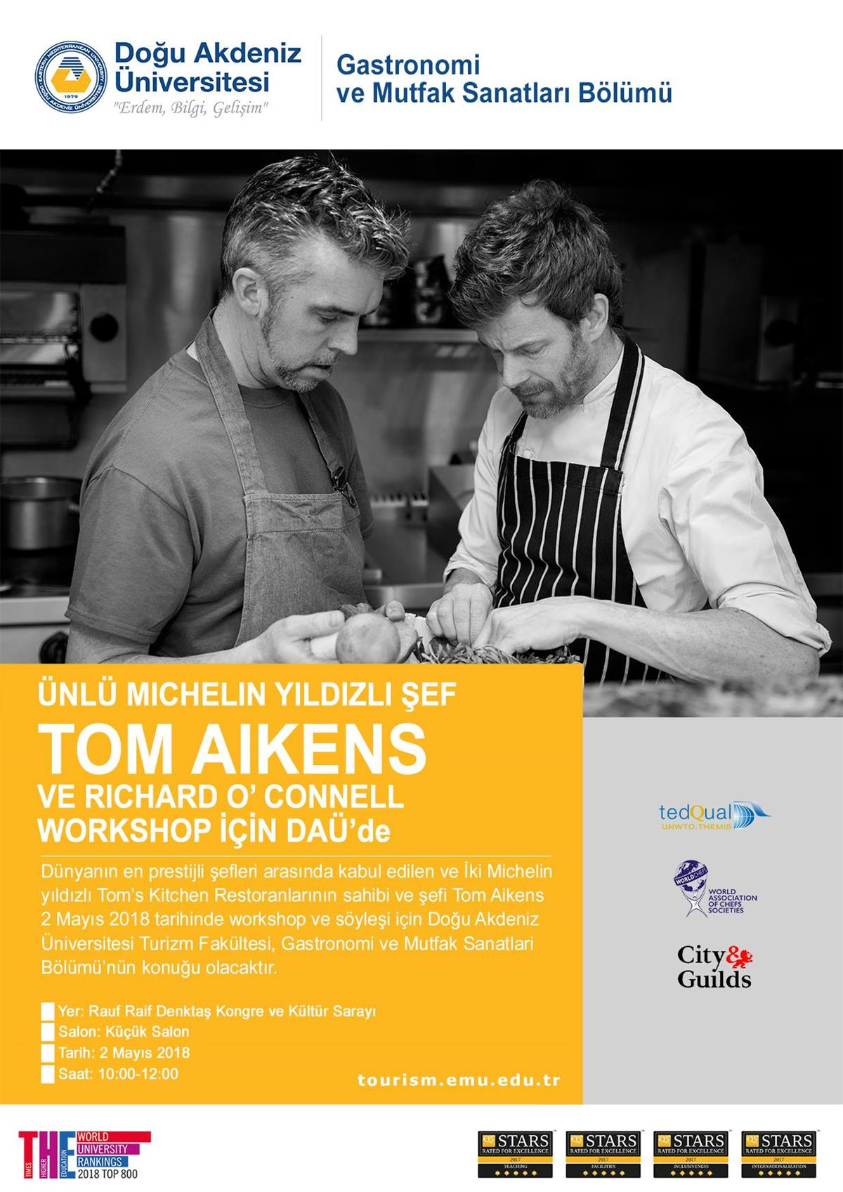 Chef Tom Aikens and Chef Richard O